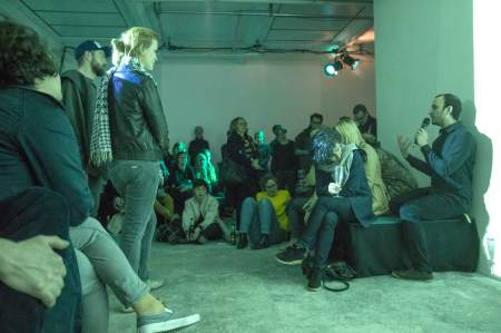 Lecture performance 'Standing on the Shoulders of Giants' at ACADEMYSPACE Köln 2015